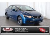2015 Dyno Blue Pearl Honda Civic EX Sedan #100027716