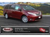 2015 Salsa Red Pearl Toyota Sienna Limited AWD #100027690