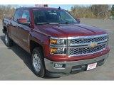 2015 Deep Ruby Metallic Chevrolet Silverado 1500 LT Crew Cab #100028131