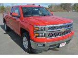 2015 Victory Red Chevrolet Silverado 1500 LT Double Cab #100028130