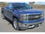 2015 Deep Ocean Blue Metallic Chevrolet Silverado 1500 LT Double Cab 4x4 #100028119
