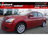 2014 Red Brick Nissan Sentra S #100069765