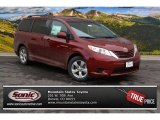 2015 Salsa Red Pearl Toyota Sienna LE #100069533