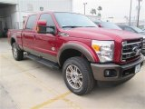 2015 Ruby Red Ford F250 Super Duty King Ranch Crew Cab 4x4 #100103684