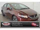 2015 Crimson Pearl Honda Civic EX Sedan #100104024