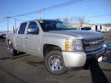 2011 Sheer Silver Metallic Chevrolet Silverado 1500 LS Crew Cab #100128016