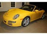 2007 Speed Yellow Porsche 911 Carrera Cabriolet #100157749