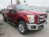 2015 Ruby Red Ford F250 Super Duty King Ranch Crew Cab 4x4 #100157351