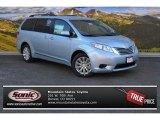 2015 Sky Blue Pearl Toyota Sienna LE AWD #100190712