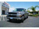2002 Light Pewter Metallic Chevrolet Silverado 1500 LS Extended Cab 4x4 #10015484