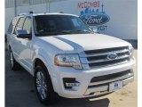 2015 White Platinum Metallic Tri-Coat Ford Expedition Platinum #100204032
