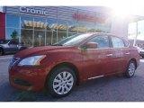 2014 Red Brick Nissan Sentra S #100208207