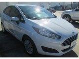 2015 Oxford White Ford Fiesta S Sedan #100208083