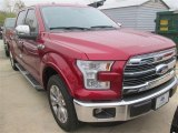 2015 Ruby Red Metallic Ford F150 Lariat SuperCrew #100208076