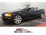 2001 Jet Black BMW 3 Series 325i Convertible #100208046