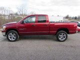 2006 Inferno Red Crystal Pearl Dodge Ram 1500 SLT Quad Cab 4x4 #100208305