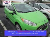 2014 Green Envy Ford Fiesta Titanium Sedan #100229633