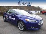 2015 Deep Impact Blue Metallic Ford Fusion SE #100229694