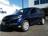 2015 Obsidian Blue Pearl Honda CR-V EX AWD #100229970