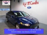 2015 Deep Impact Blue Metallic Ford Fusion SE #100229616