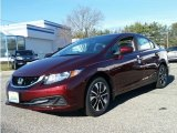 2015 Crimson Pearl Honda Civic EX Sedan #100229968