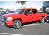 2009 Victory Red Chevrolet Silverado 1500 LT Crew Cab #10015218