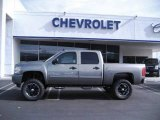 2009 Graystone Metallic Chevrolet Silverado 1500 LT Crew Cab #10015226