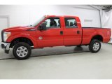 2015 Vermillion Red Ford F250 Super Duty XL Crew Cab 4x4 #100260286
