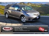 2015 Predawn Gray Mica Toyota Sienna LE #100260375