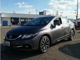 2015 Modern Steel Metallic Honda Civic EX-L Sedan #100284526