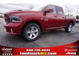 2015 Deep Cherry Red Crystal Pearl Ram 1500 Sport Quad Cab #100284051