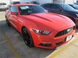 2015 Competition Orange Ford Mustang EcoBoost Premium Coupe #100327348