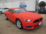 2015 Competition Orange Ford Mustang EcoBoost Coupe #100327346