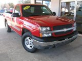 2003 Victory Red Chevrolet Silverado 1500 LS Regular Cab 4x4 #100327662