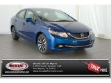2015 Dyno Blue Pearl Honda Civic EX-L Sedan #100381173