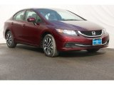 2015 Crimson Pearl Honda Civic EX Sedan #100381695