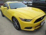2015 Triple Yellow Tricoat Ford Mustang EcoBoost Premium Coupe #100381361