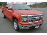 2015 Victory Red Chevrolet Silverado 1500 LT Crew Cab 4x4 #100382111