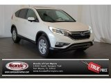2015 White Diamond Pearl Honda CR-V EX AWD #100381175