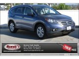 2012 Twilight Blue Metallic Honda CR-V EX-L #100465683