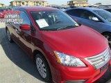 2014 Red Brick Nissan Sentra SV #100465656