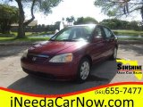 2002 Radiant Ruby Red Pearl Honda Civic EX Sedan #100465485