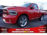 2015 Flame Red Ram 1500 Sport Regular Cab #100490695