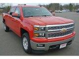 2015 Victory Red Chevrolet Silverado 1500 LT Crew Cab 4x4 #100490884