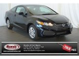 2015 Crystal Black Pearl Honda Civic LX Coupe #100490517