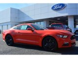 2015 Competition Orange Ford Mustang EcoBoost Premium Coupe #100521522