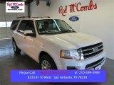 2015 White Platinum Metallic Tri-Coat Ford Expedition EL Limited #100521369