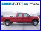 2015 Vermillion Red Ford F250 Super Duty XL Crew Cab 4x4 #100521344