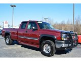 2003 Dark Carmine Red Metallic Chevrolet Silverado 2500HD LT Extended Cab 4x4 #100557461