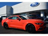 2015 Competition Orange Ford Mustang GT Premium Coupe #100557459